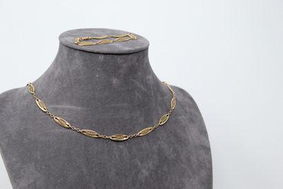 Demi-parure composé d'un collier et d'un...
