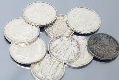 Pièces en argent de type Hercule :  - 50...