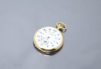 DUC  Montre de gousset chronomètre en or...
