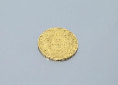 Gold coin of 20 francs Cérès IIème République...