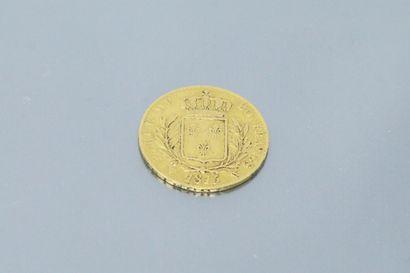 Pièce en or de 20 Francs Louis XVIII buste...
