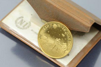 Médaille en or (900/1000) commémorative du...