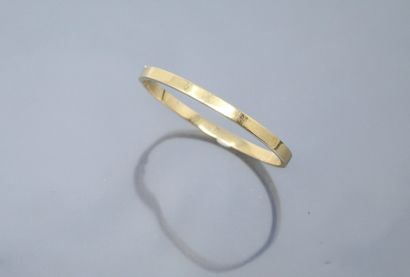 Bracelet rigide en or jaune 18k (750).  Diam....