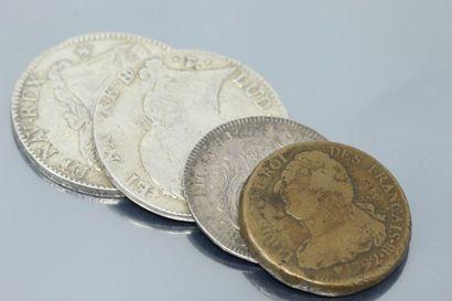 MONNAIE ROYALE  Lot composé :  - Un écu d'argent...