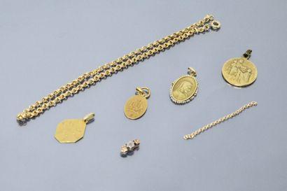 Lot de débris d'or 18k (750)  Poids : 12.68...