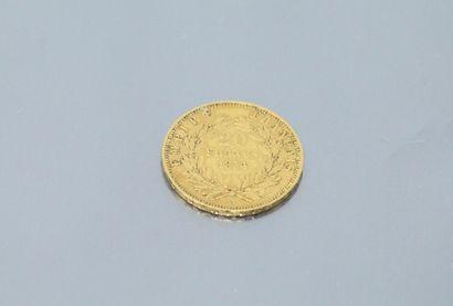 Pièce en or de 20 francs Napoléon III tête...