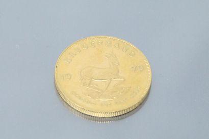 Pièce en or de 1 krugerrand (1979)  TTB à...