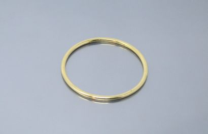 Bracelet jonc en or jaune 18k (750)  Poids...