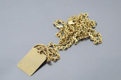 Chaîne en or jaune 18k (750) à maille forçat...