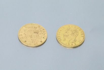ITALY  Two gold coins of 20 lire Victor-Emmanuel...