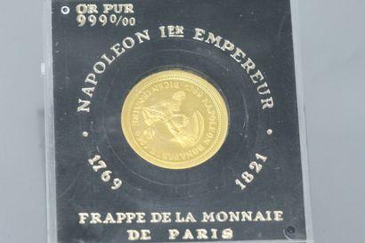 MONNAIE DE PARIS  Lot de deux médailles en or (999) commémorant le bicentenaire...