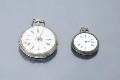 Deux épaves de montres de gousset.    Poids...