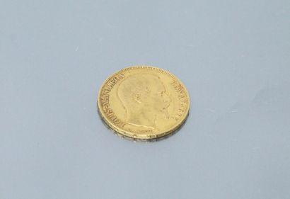 Gold coin of 20 francs Louis Napoleon Bonaparte...