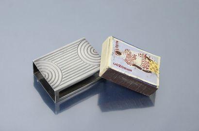 BOIN-TABURET  Etui pour une boîte d'allumettes en argent massif (Minerve) Marque...