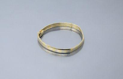 Bracelet en or jaune et rose 18k (750) à...