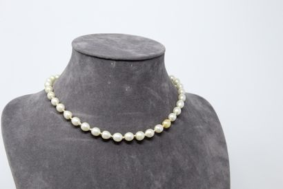 Collier en perles fantaisies, fermoir en...