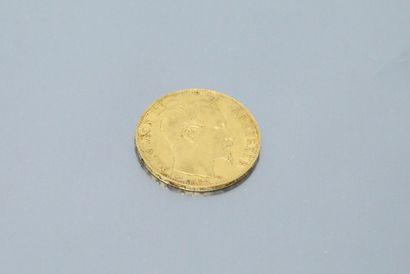 Pièce en or de 20 Francs au Napoléon III...