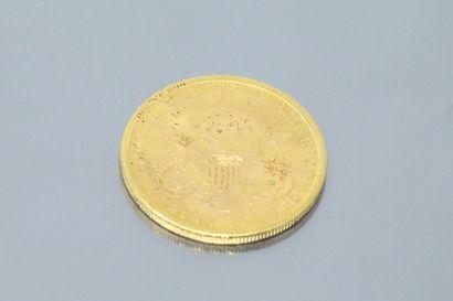 """Pièce en or de 20 dollars """"Liberty Head - Double Eagle"""" avec devise, 1894.  Poids..."""