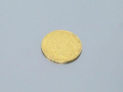 Pièce en or de 20 francs Cérès IIème République 1850 A (Paris).    Poids : 6.40...