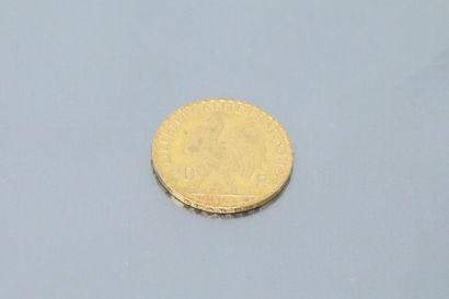 Pièce en or de 20 francs au coq 1909.  TTB à SUP.  Poids : 6.45 g.