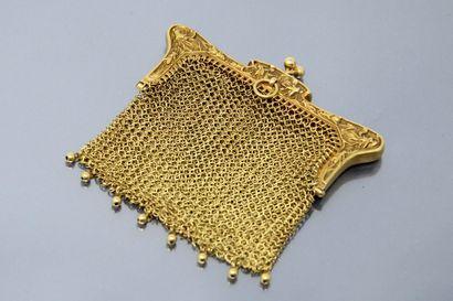 Bourse à maille en or jaune 18k (750) dans...