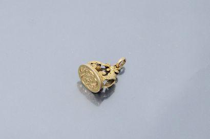 Sceau chiffré LL en or jaune 18k (750), quatre...