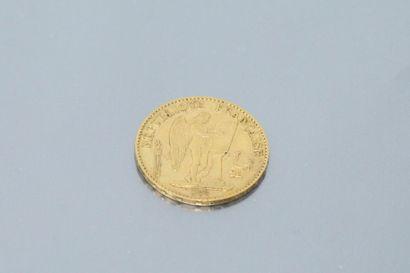 Pièce en or de 20 Francs au Génie (1878 A)...