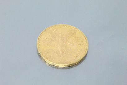 Gold coin of 50 Pesos (1943).  APC to SUP....