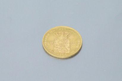 PAYS-BAS  Pièce en or de 10 florins Koning Willem de Derde 1876.    Poids : 6.70...