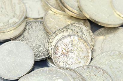 Lot de pièces Francaises en argent.  Poids...