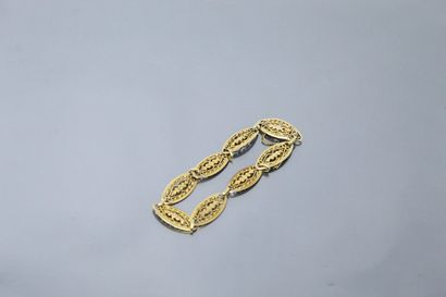 18k (750) yellow gold bracelet with filigree...
