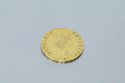Pièce en or jaune de 20 Francs Bonaparte...