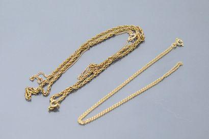 Chaîne à mailles forçat en or jaune 18k (750)....