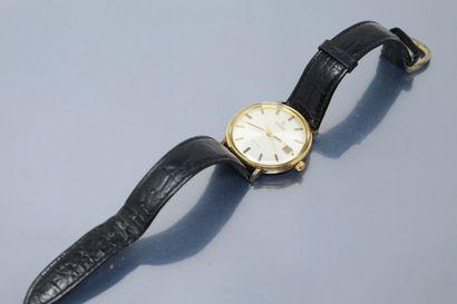 OMEGA  Montre bracelet d'homme, index bâtons...