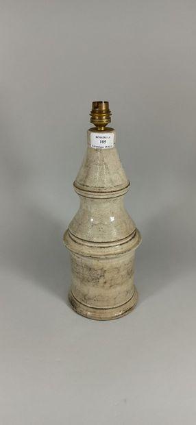LE MURIER (atelier)  Pied de lampe gris /...
