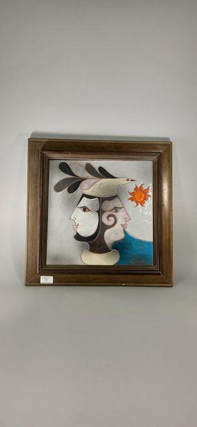 VALENTIN Gilbert (1928 - 2001)  Plaque décorative...