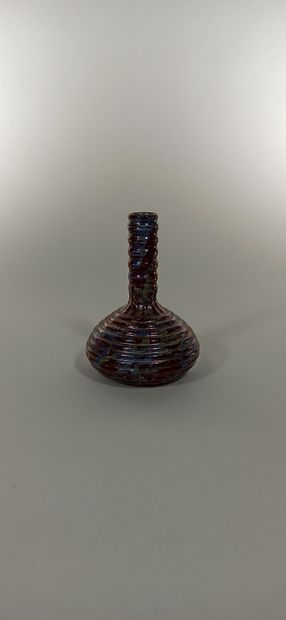 ZSOLNAY PECS  Vase soliflore en céramique...