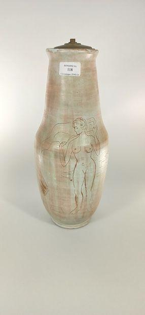 LIGNIER Jacques (né en 1924)  Pied de lampe...