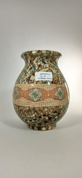 GERBINO Jean (1876-1966),  Vase à décor d'une...