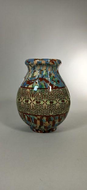 GERBINO Jean (1876-1966),  Vase pansu à décor...