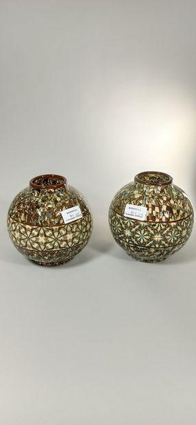 GERBINO Jean (1876-1966),  Deux vases de...