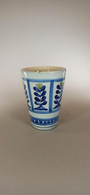 CAPRON Roger (1922 - 2006)  Service à orangeade à décor de fleurs géométriques comprenant...