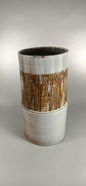 ARGONONAUTES (Les)  Vase cylindre, terre...