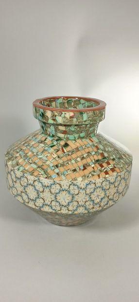 GERBINO Jean (1876-1966),  Vase de forme...