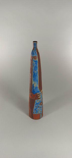 KUHN Beate (née en 1927)  Vase à décor stylisé...