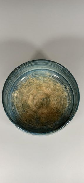 BESNARD Jean, awarded to  Cup  Red earth (very used glaze inside the dish), bears...
