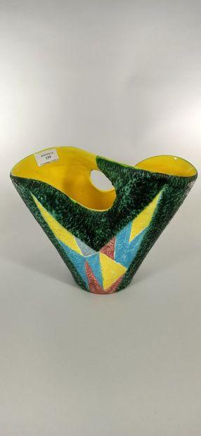 SAGAN Jacques (né en 1927)  Vase panier à...
