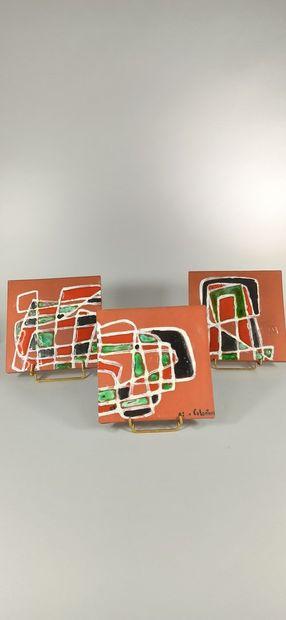COLONIEU Alice    3 plaques carrées formant...
