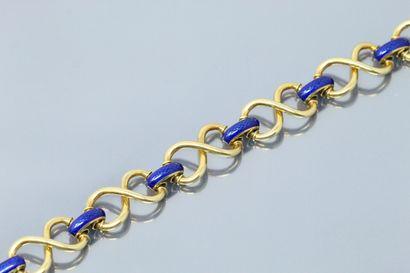 Bracelet en or 18K (750) à maillons en 8,...