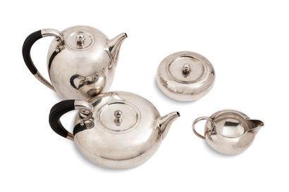Service à thé et café en argent (925), composé...